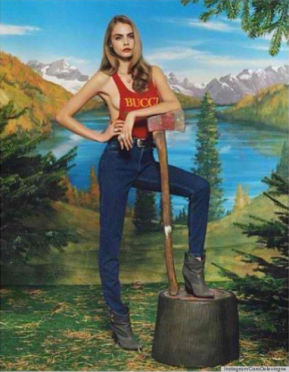 cara delevingne lumberjack