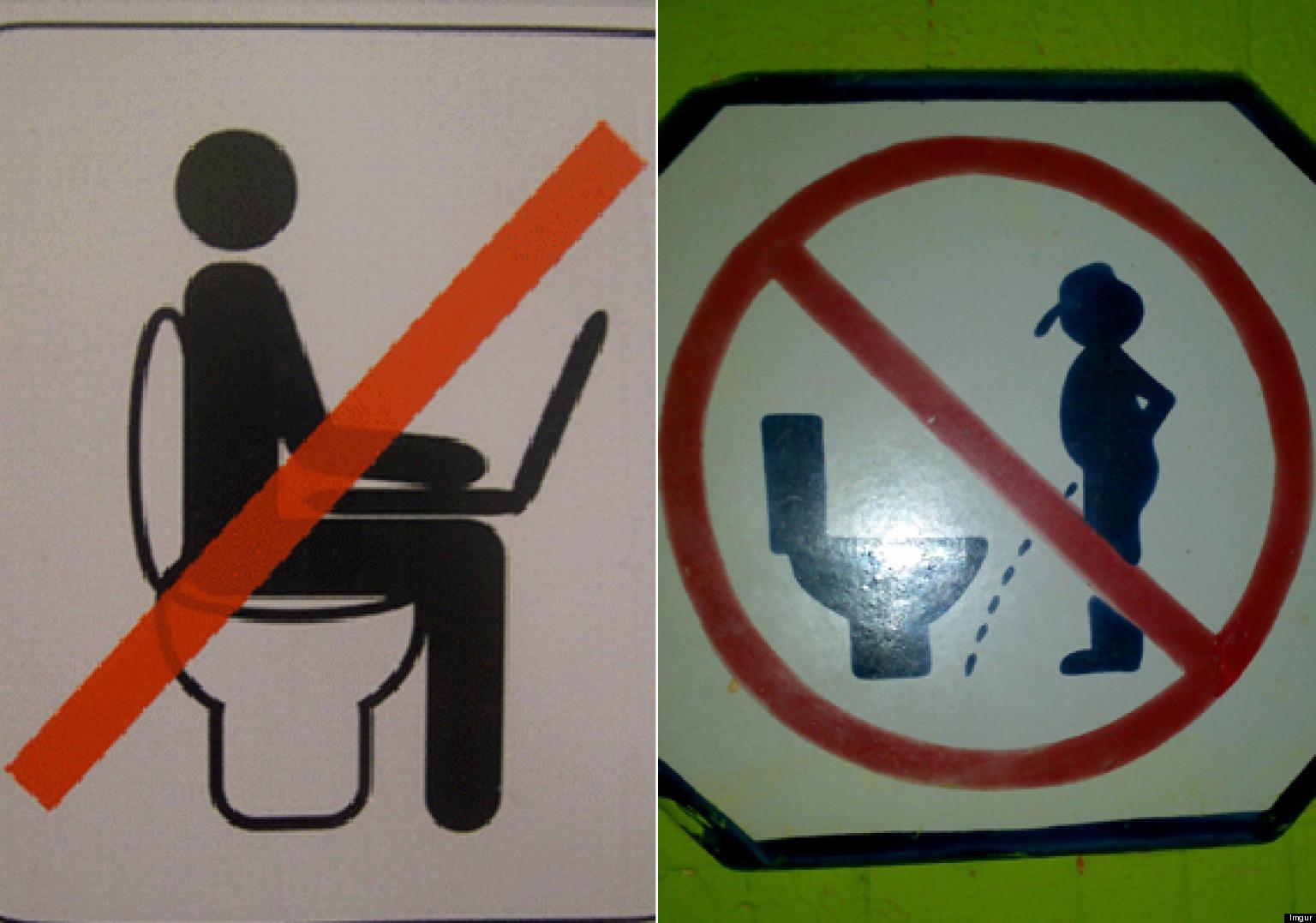 22 letreros divertidos en los ba os fotos huffpost - Carteles para banos ...
