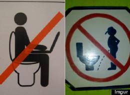 22 letreros divertidos en los baños (FOTOS)