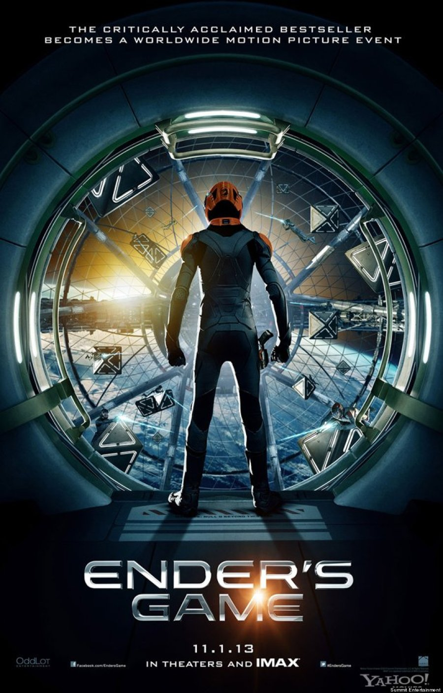 Ender's Game Movie Poster Featuring Harrison Ford and Abigail Breslin