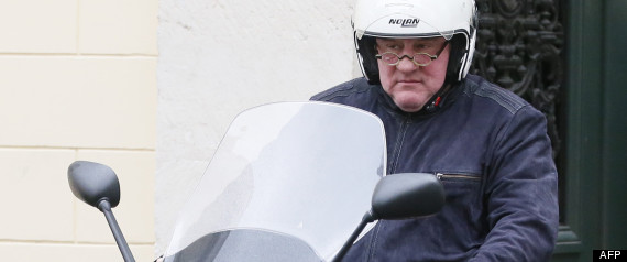 GERARD DEPARDIEU SCOOTER