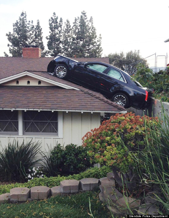 car parked on a roof