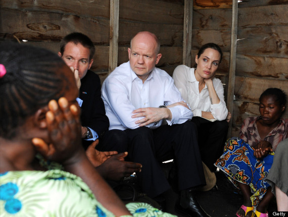 jolie and hague in congo