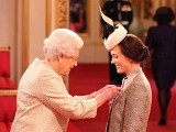 Victoria Pendleton Receives CBE From The Queen...