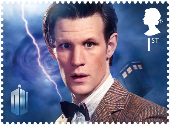 royal mail stamps dr who matt smith