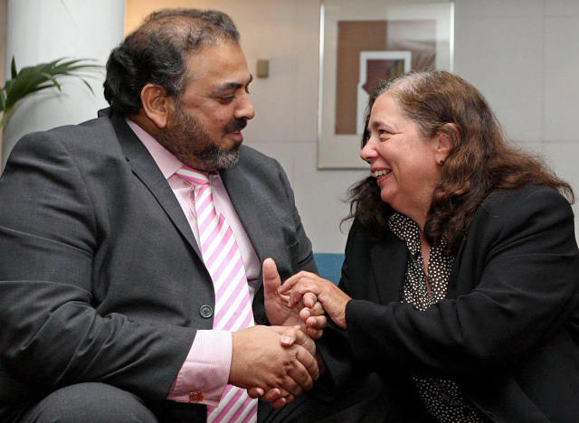 lord ahmed with gillian gibbons