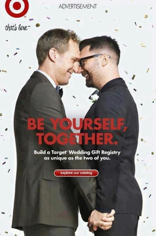 target gay marriage support