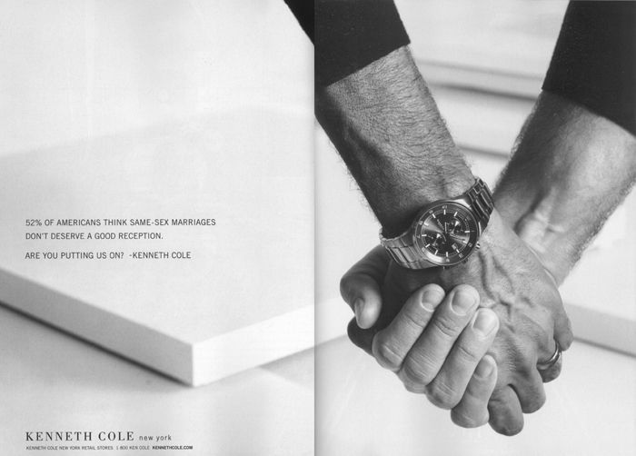 kenneth cole gay marriage