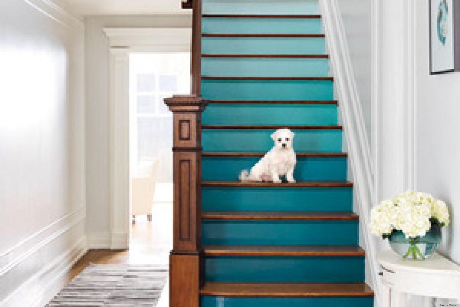 diy decorating ideas for a staircase huffpost