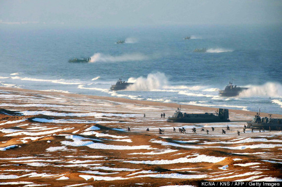 north korea marine landing photoshop