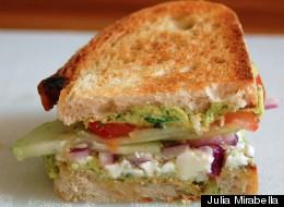 Best Of Both Worlds: Greek Salad Sandwich