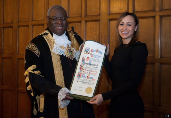 jessica ennis freedom of sheffield