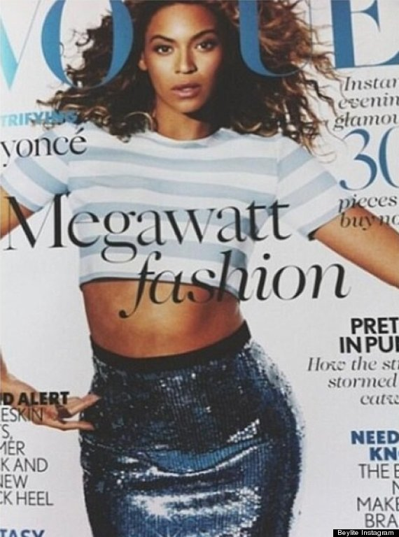 beyonce vogue uk cover