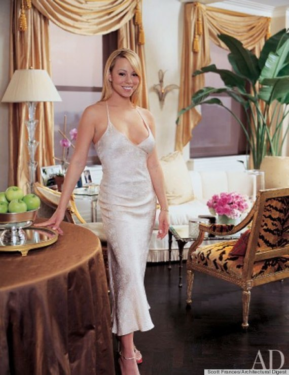 Mariah carey 39 s living room in her new york home is draped for S carey living room tour
