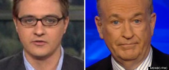 chris hayes bill o'reilly