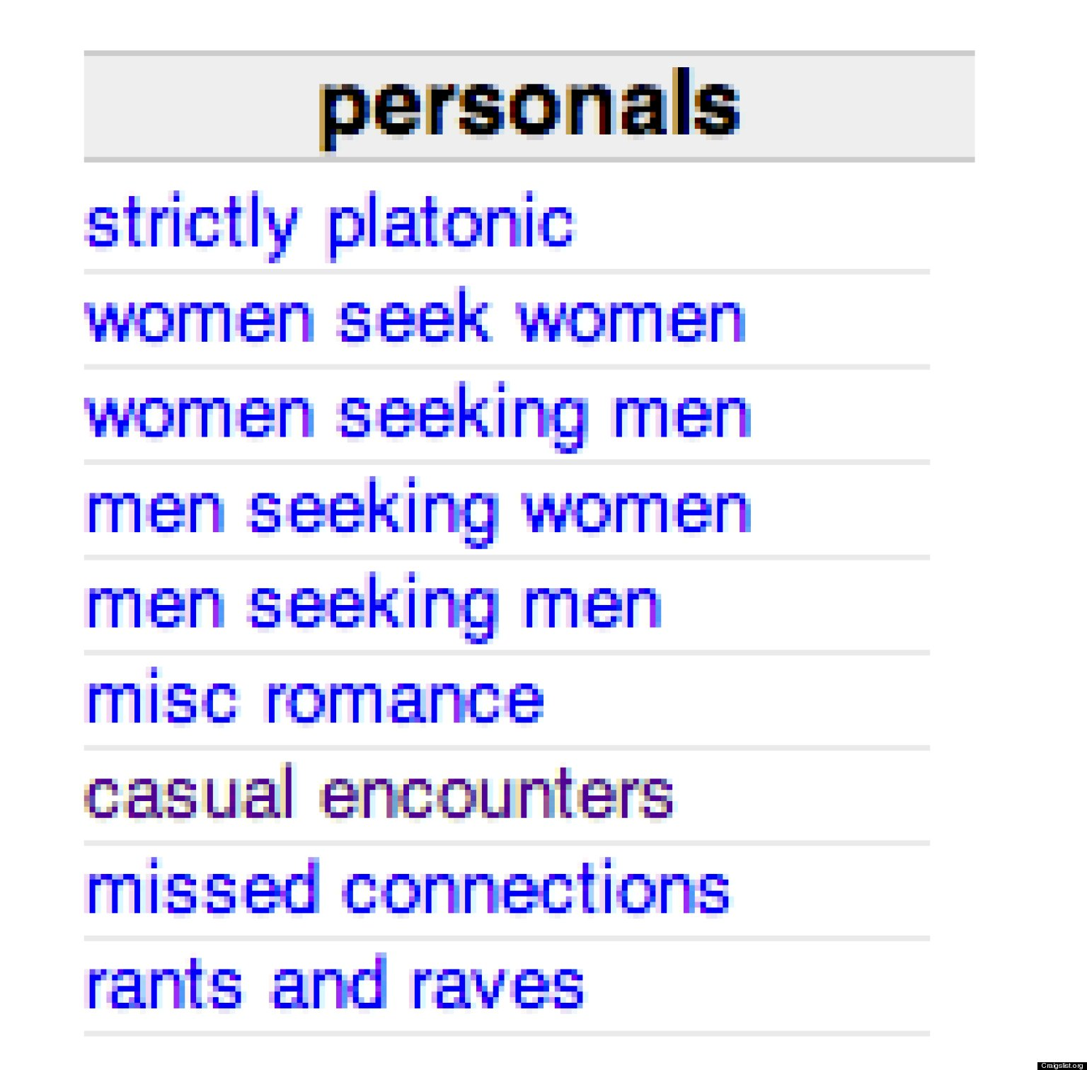 Craigslist women seeking man