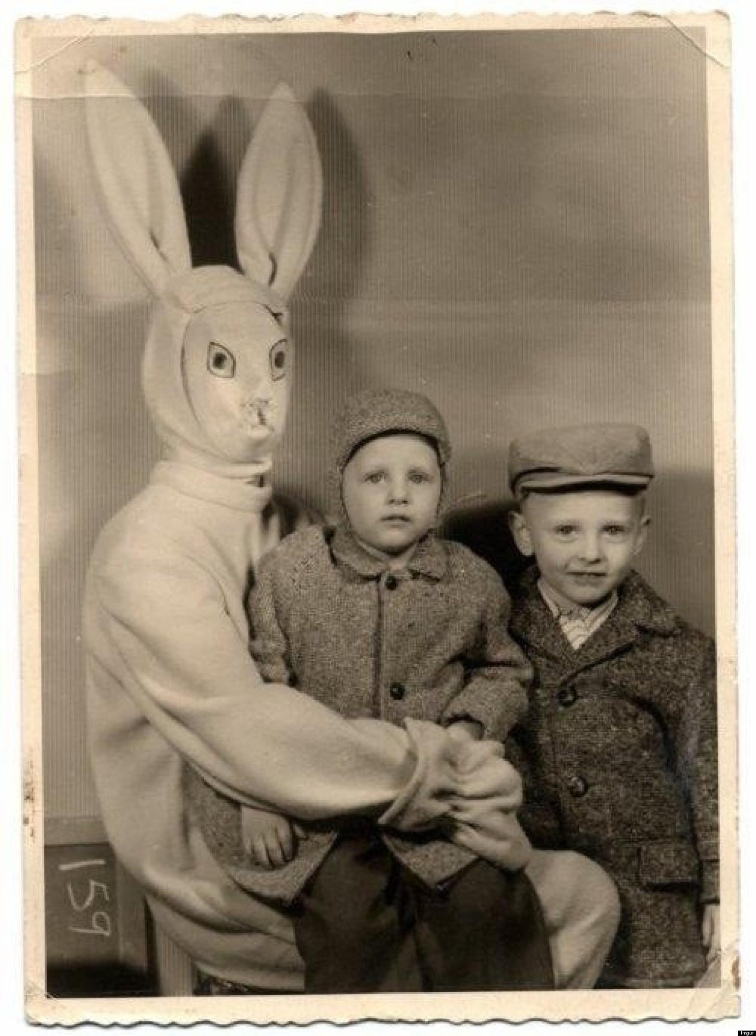 Scary Easter Bunny Photos O-creepy-vintage-easter-bunny- ...