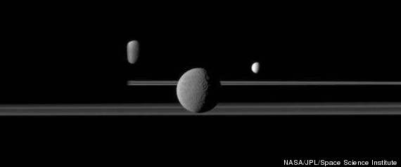 Saturn Moons Rings