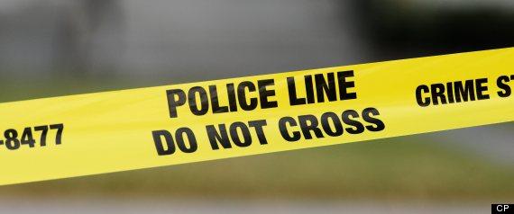 CALGARY MURDER POLICE LINE