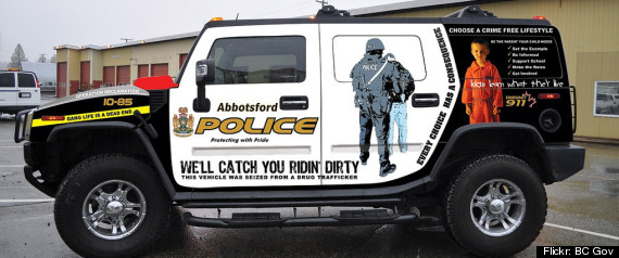 ABBOTSFORD POLICE HUMMER