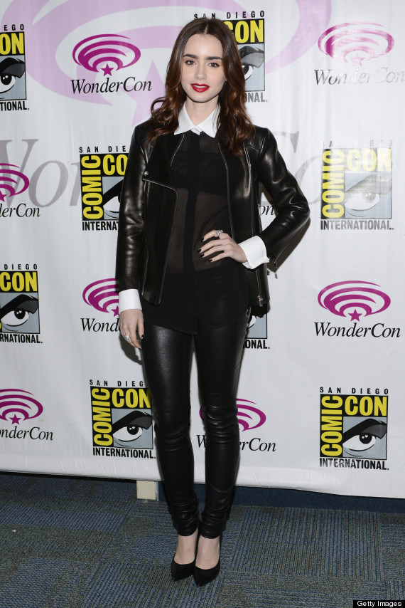 lily collins sheer shirt