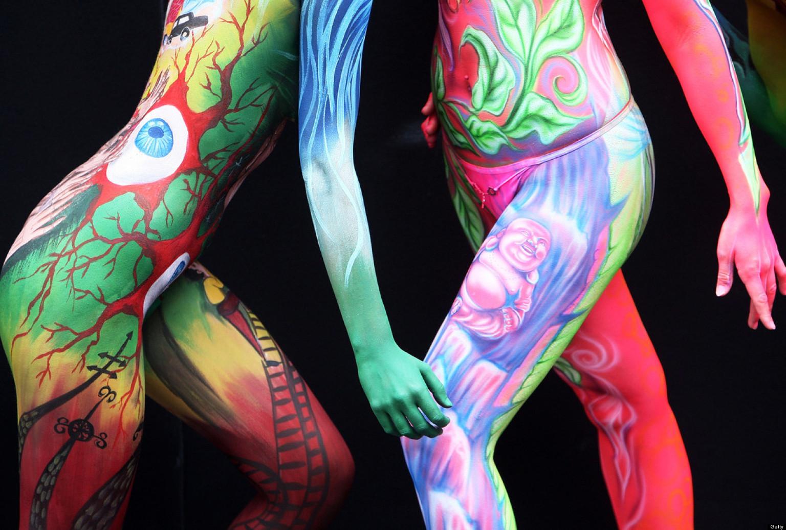Pintura Corporal Desnuda Online Pintura Al leo Del