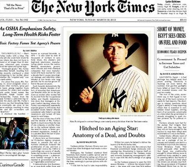 ny times instagram front page