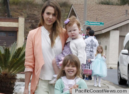 PHOTOS: Jessica Alba And Family Pick Pastels On Easter