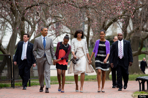 malia sasha obama easter