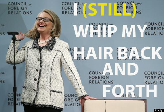 hillary clinton whips her hair