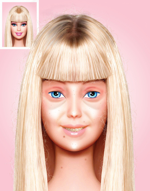 Barbie Makeup: Barbie Without Makeup Before And After Pics
