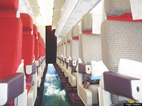 glass bottom plane