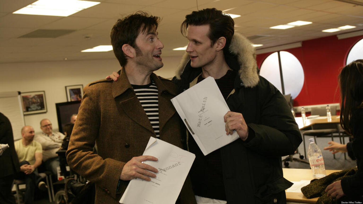 doctor who david tennant matt smith unite for 50th