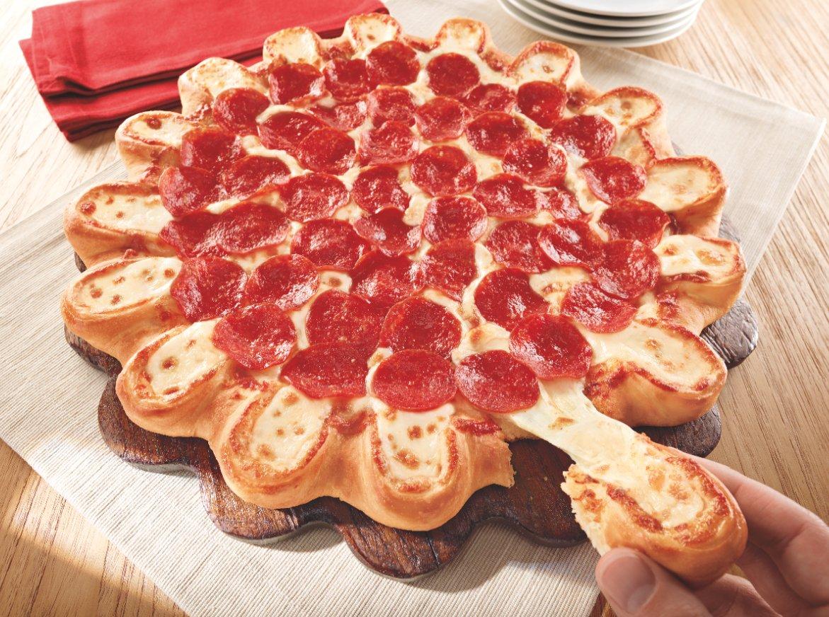crazy cheesy crust pizza