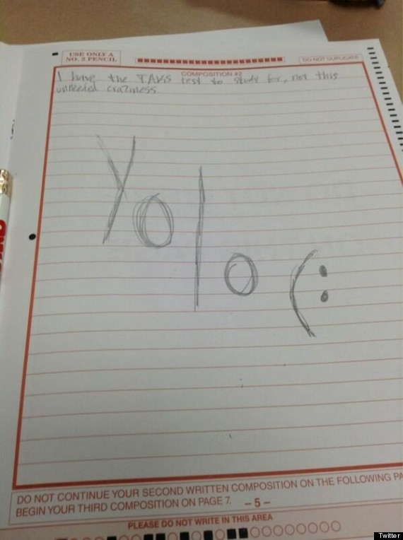 student tweets yolo