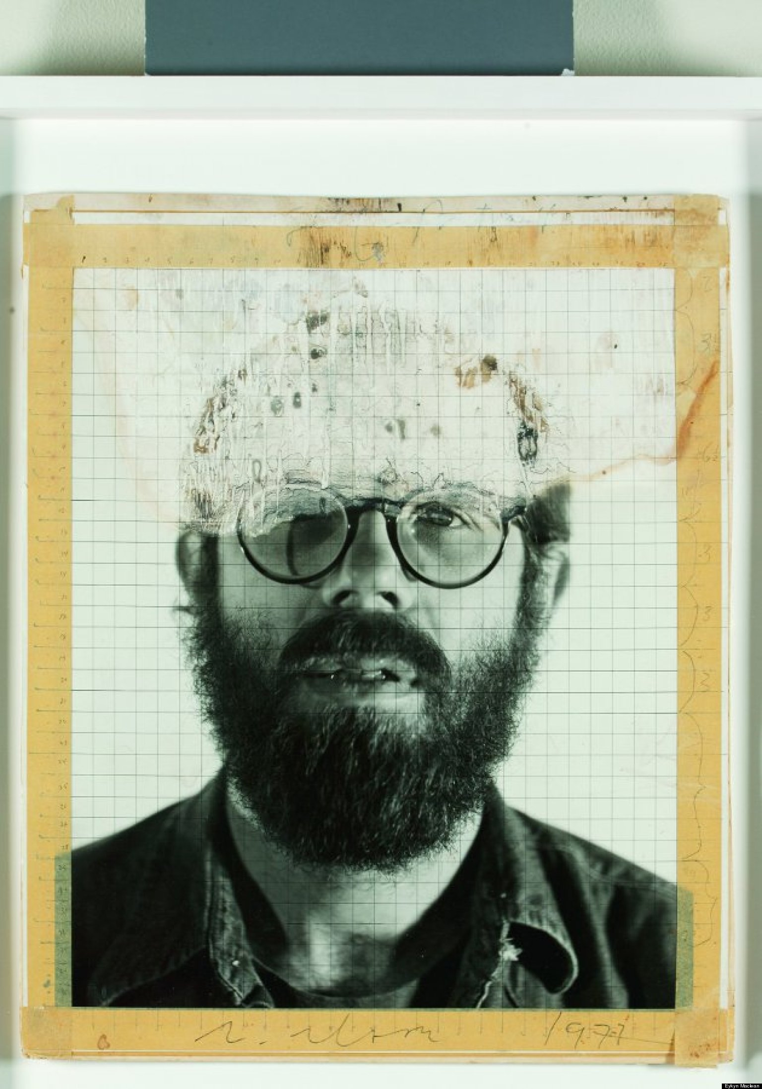 A Close Up Of A 14 Year Old Boy Covered In Snow Stock: Chuck Close's Photo Maquettes Reveal Origins Of