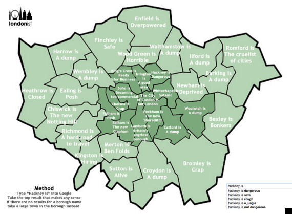 autocorrect map of london
