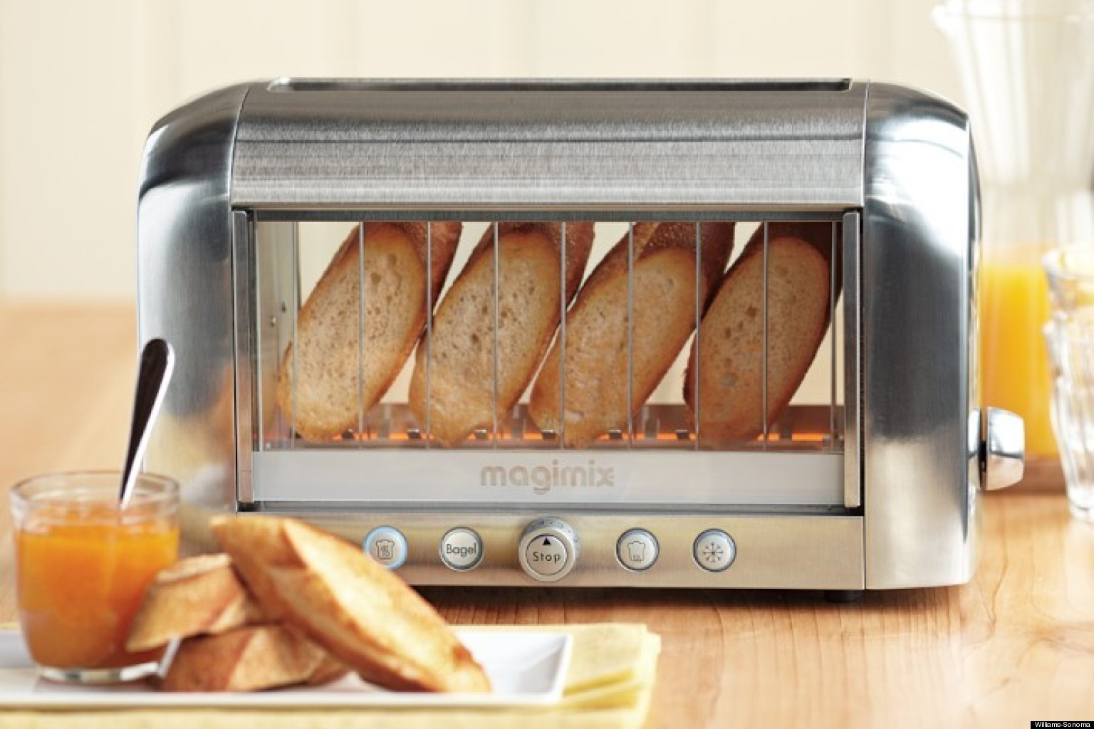 see through toaster the magimix by robot coupe vision toaster is here video. Black Bedroom Furniture Sets. Home Design Ideas