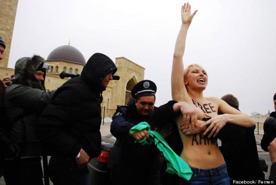 femen topless jihad in kiev