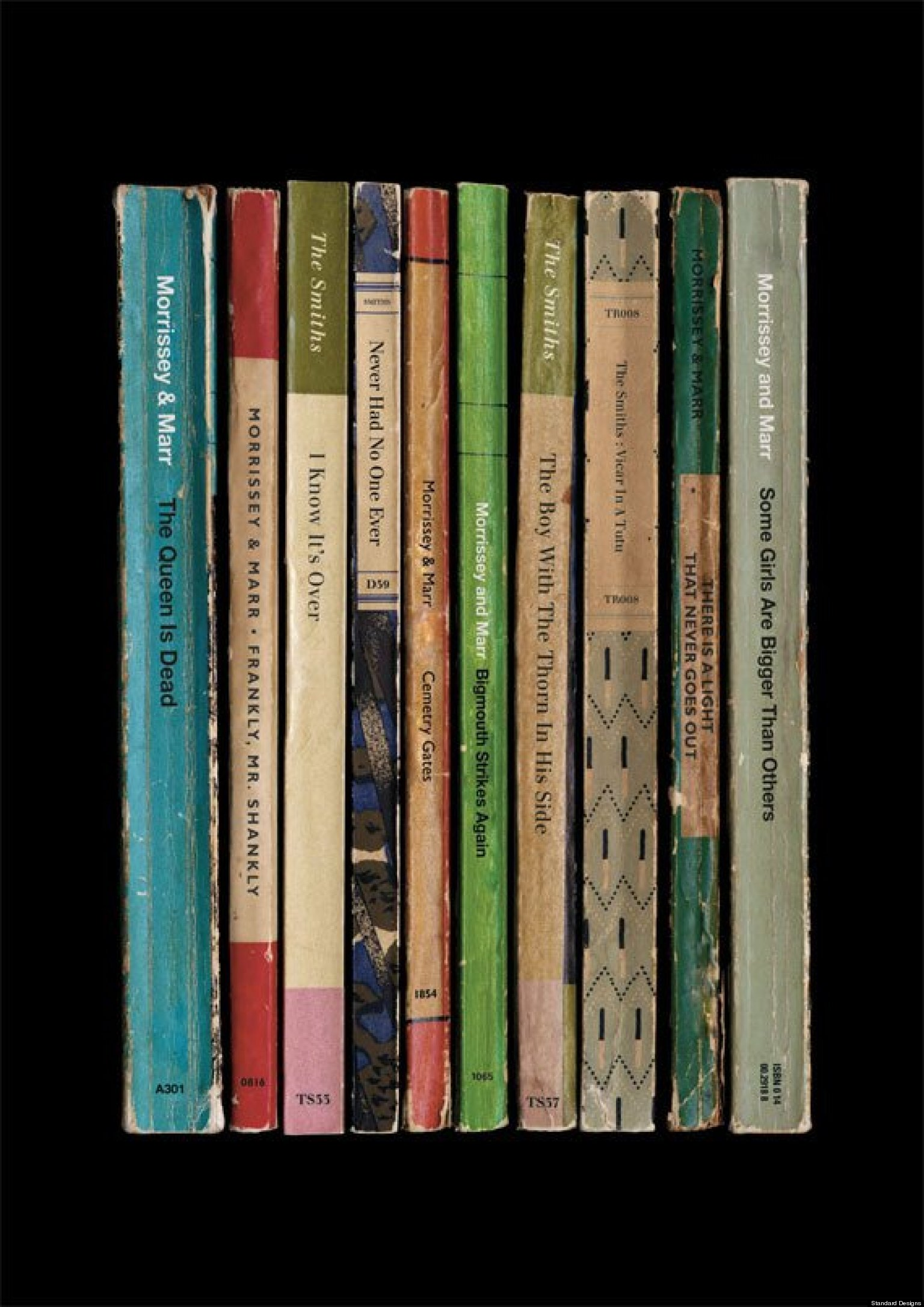 the smiths albums reimagined as vintage books  pictures