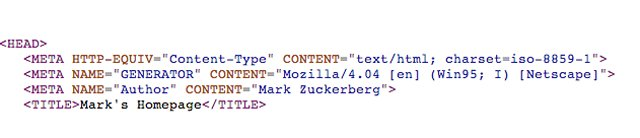 mark zuckerbergs first website