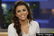 Eva Longoria Does Block Monochrome For Jay Leno
