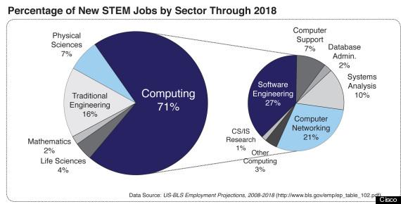 pie chart for stem blog
