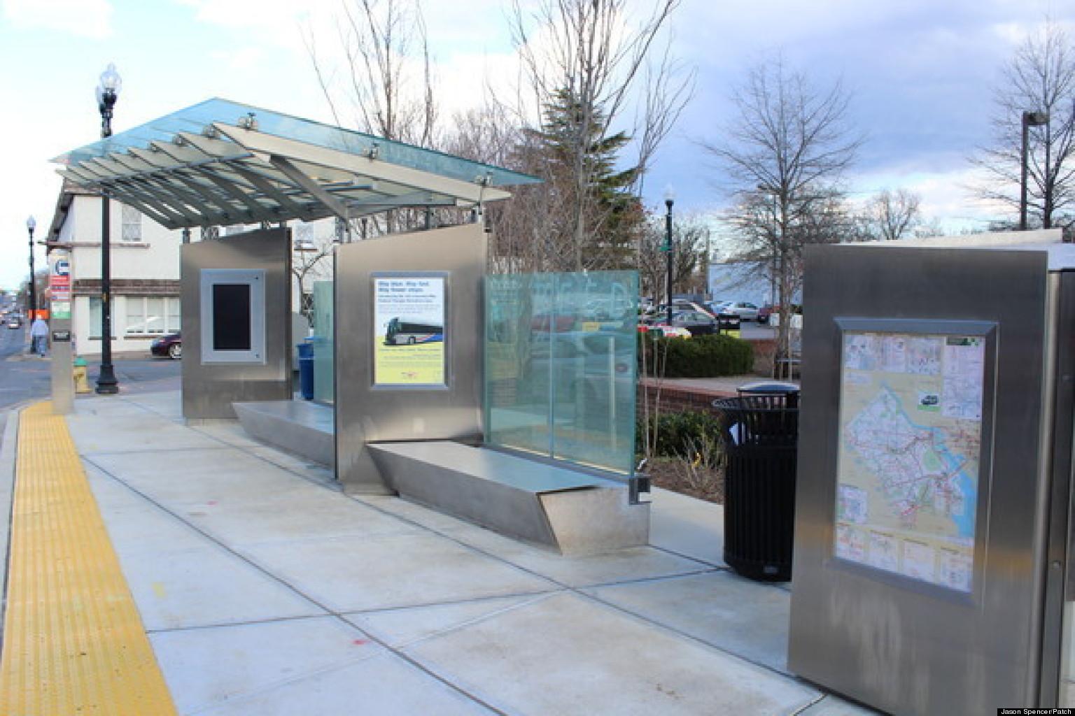 Million Dollar Bus Stop Northern Virginia Super Stop Has