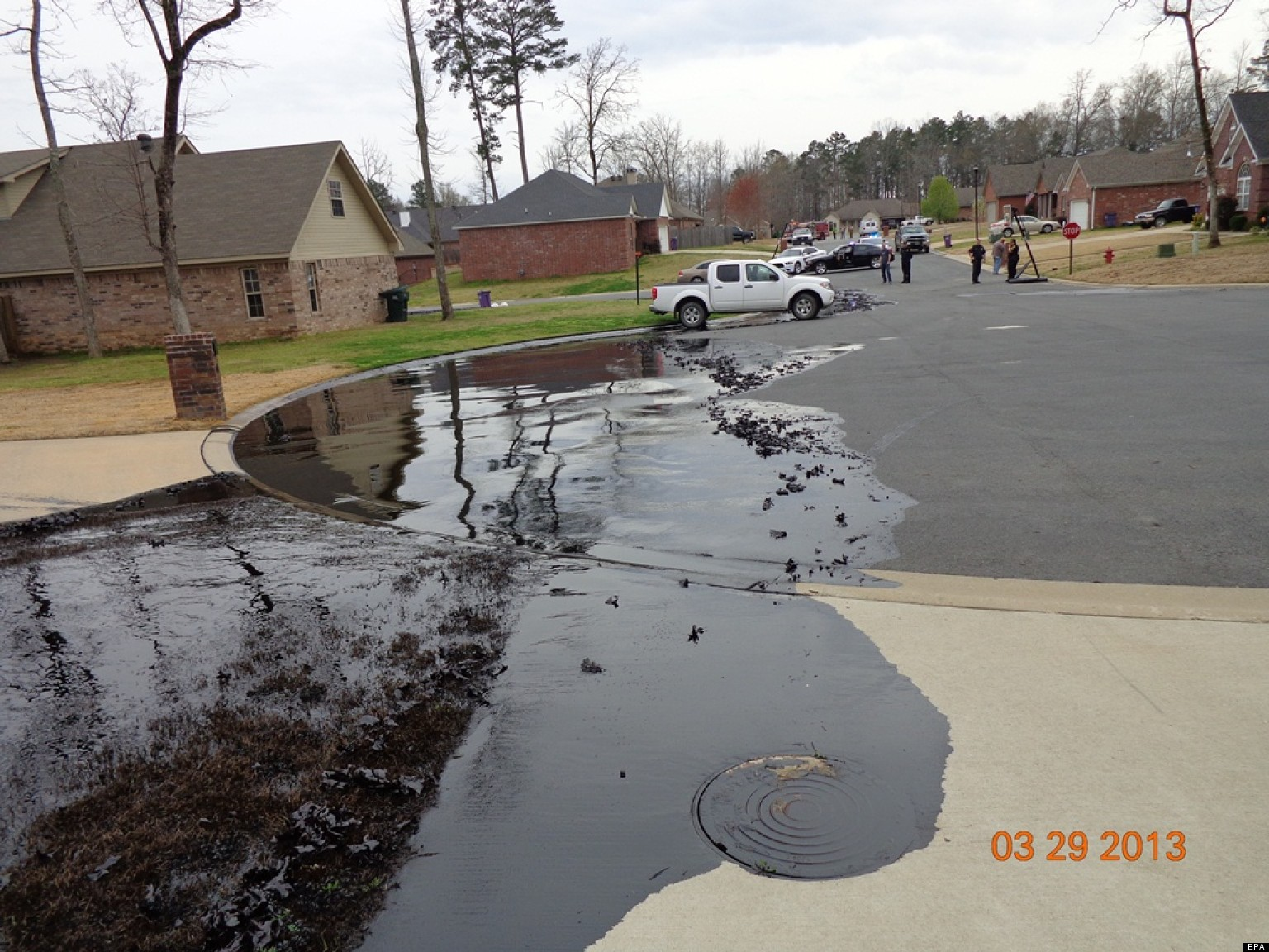 Exxon Oil Spill Photos From Mayflower Arkansas Posted By