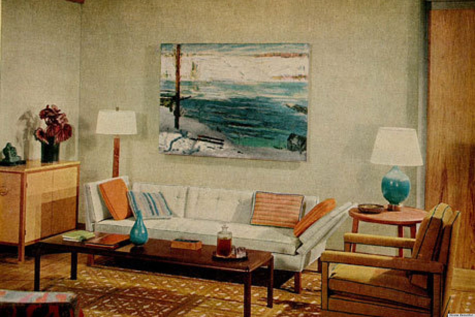 1960s Interiors Inspired By 39 Mad Men 39 From House Beautiful Photos Huffpost