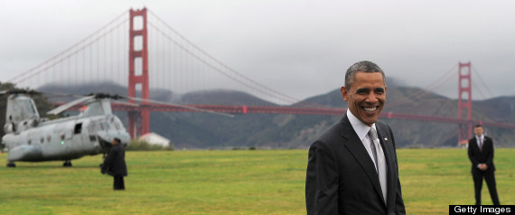 OBAMA GOLDEN GATE BRIDGE