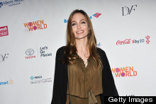 Angelina Jolie Plays It Long And Loose For Women's Summit