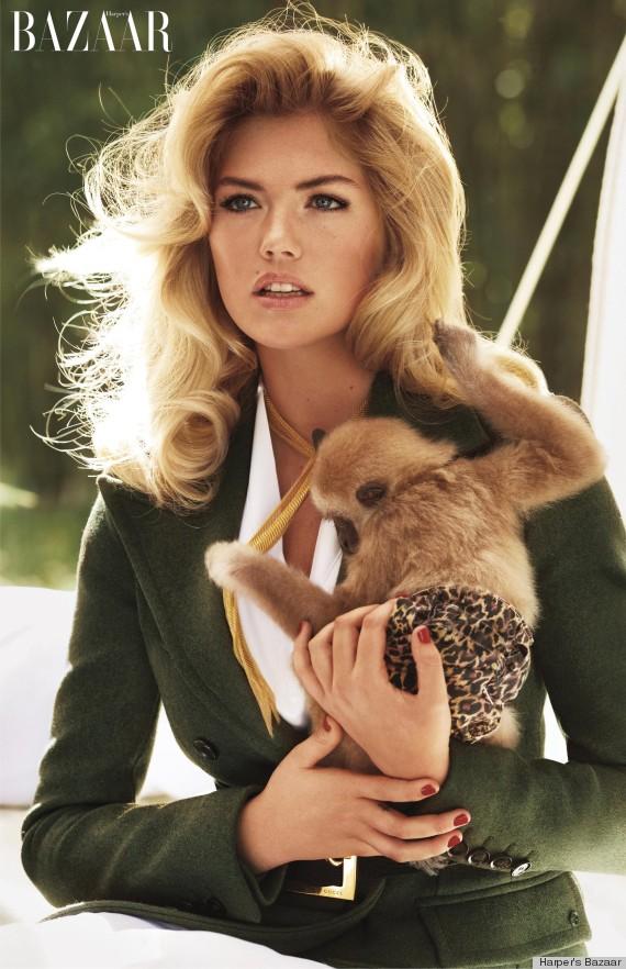 Kate Upton Holds Baby Animals For Carine Roitfeld\'s Bazaar Shoot ...