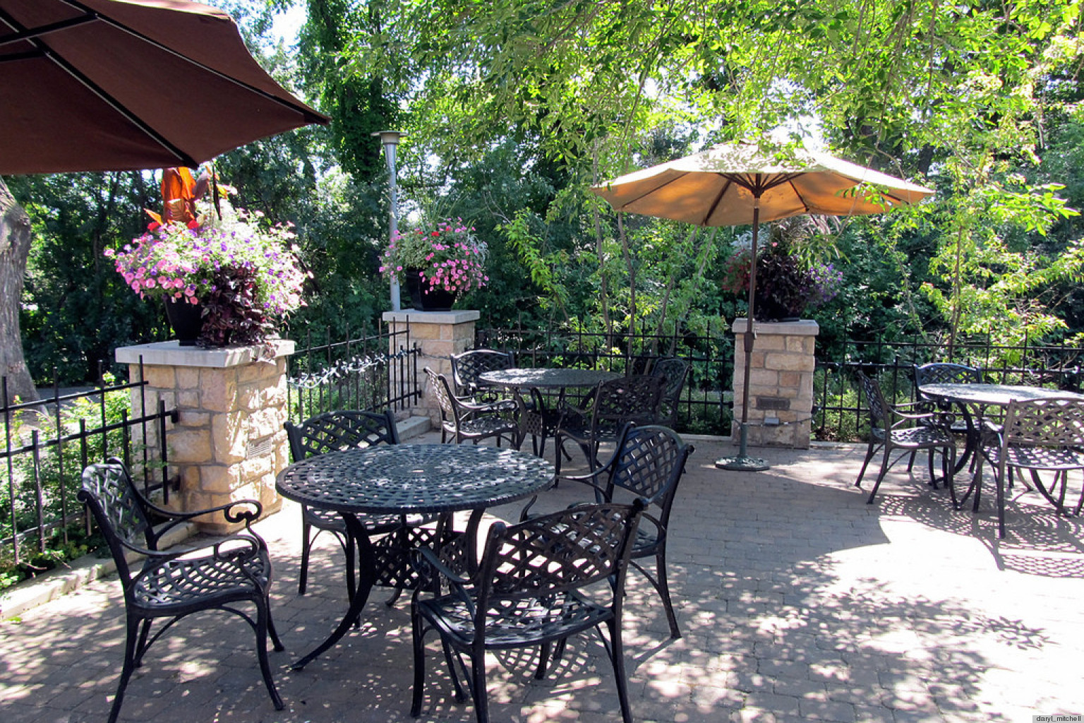 8 Pretty Patios That Have Us Wishing We Were Kicking Back ... on Beautiful Patio Designs id=33940